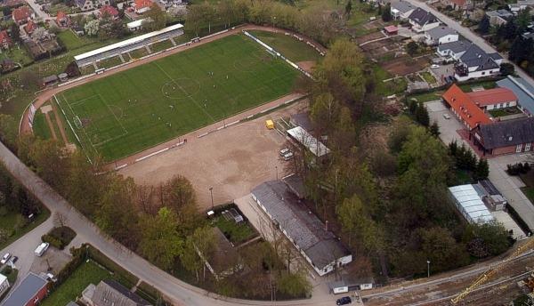 Das Palmberg-Stadion aus der Luft